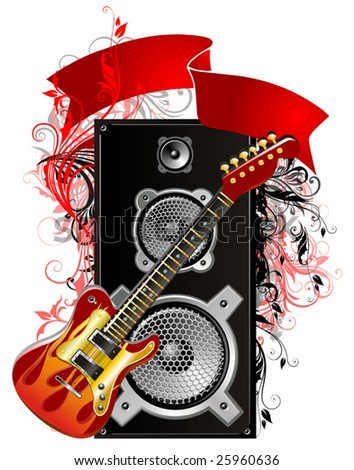 Music elements vector - stock vector