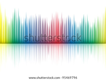 Music equalizer - stock vector