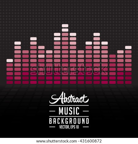 Music equalizer vector and  illustration. Texture and background. - stock vector
