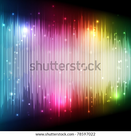 Music Equalizer Wave - EPS10 Vector Design - stock vector