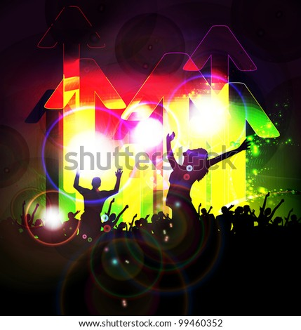 Music event background - stock vector