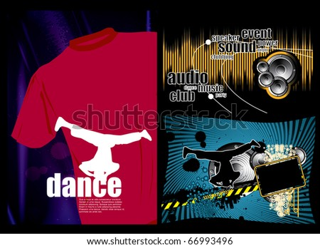 Music event background set - stock vector