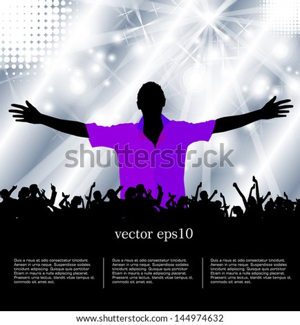Music event background. Vector eps10 illustration - stock vector