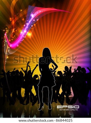 Music event background. Vector eps10 illustration.