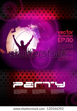 Music event poster. Vector - stock vector