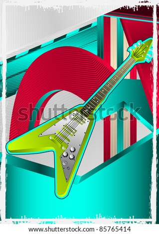 Music Events Designed Poster. Vector Illustration. - stock vector