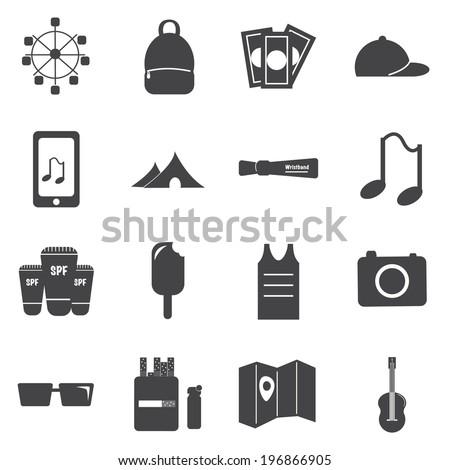 Music Festival Icons Stock Vector 196866905 Shutterstock