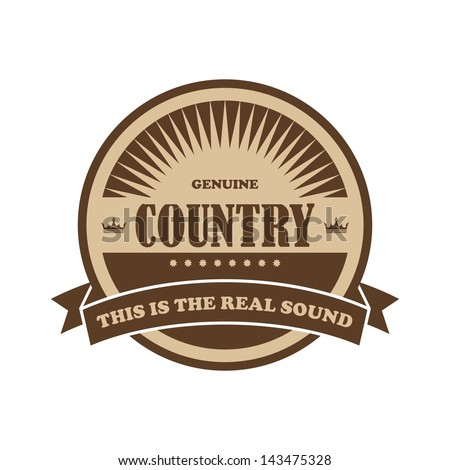 music genre label and badge country