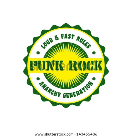 music genre label and badge punk rock