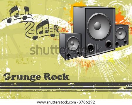Music Grunge Rock Vector Background - stock vector