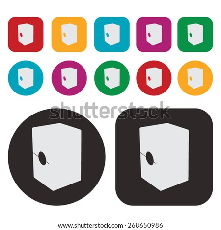 Music icon / cajon drum icon - stock vector
