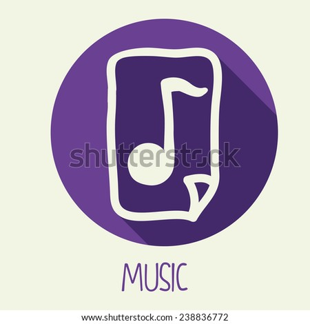 music icon design, vector illustration eps10 graphic
