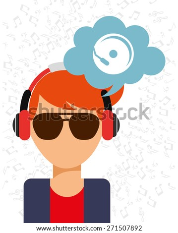music icon design, vector illustration eps10 graphic  - stock vector
