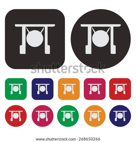 Music icon / Gong icon - stock vector