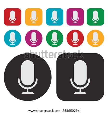 Music icon / microphone icon - stock vector
