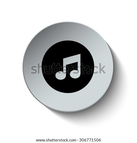 Music icon. Multimedia icon. Media icon. Music note icon. Button. EPS10. Illustration - stock vector
