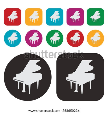 Music icon / piano icon - stock vector