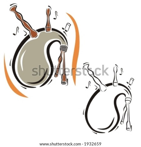 Music Instrument Series. Vector illustration of a bagpipe. - stock vector