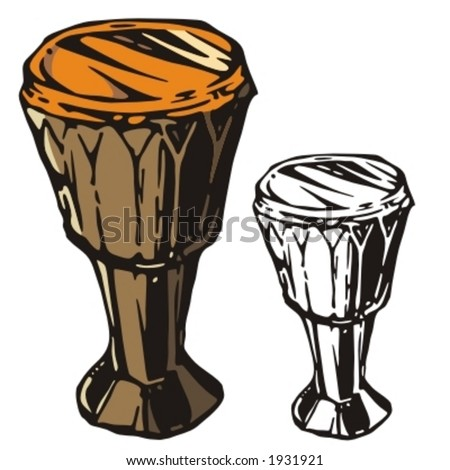 Music Instrument Series. Vector illustrations of a drum. - stock vector