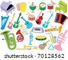 Music instruments - stock photo