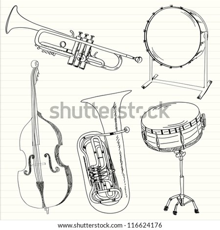 Music instruments collection. Vector illustration - stock vector