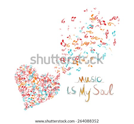 music is my soul background - stock vector