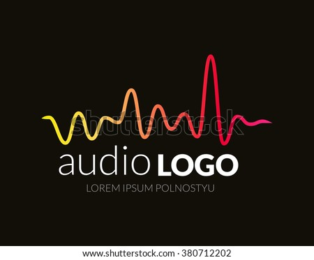 Music Logo concept sound wave, studio, music - stock vector