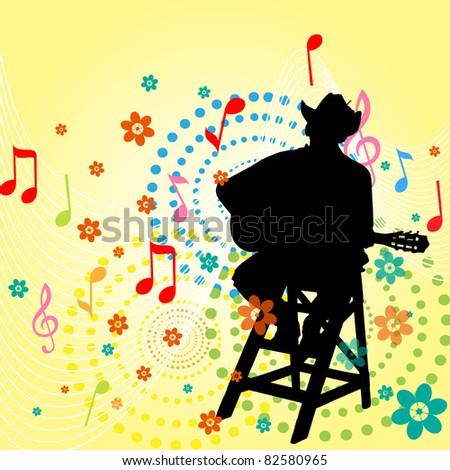Music men - stock vector