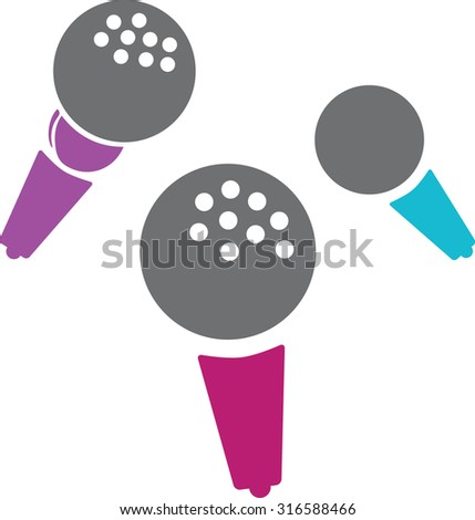 Music Microphone - stock vector