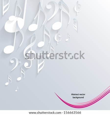 Music note background design. Vector illustration. - stock vector