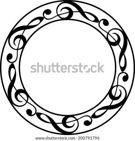 Music Note Frame - stock vector