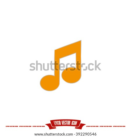 Music Note Icon - stock vector