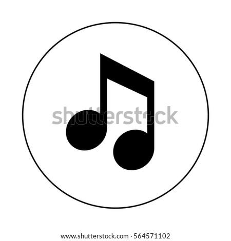 music note icon stock vector 564571102 shutterstock rh shutterstock com Hiking Icon Vector Hiking Icon Vector