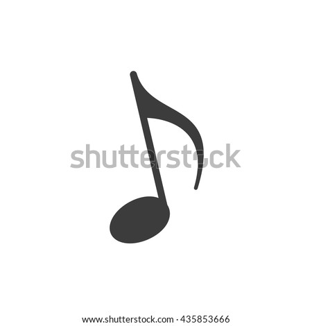 Music note icon icon. Music note icon Vector isolated on white background. Flat vector illustration in black. EPS 10 - stock vector