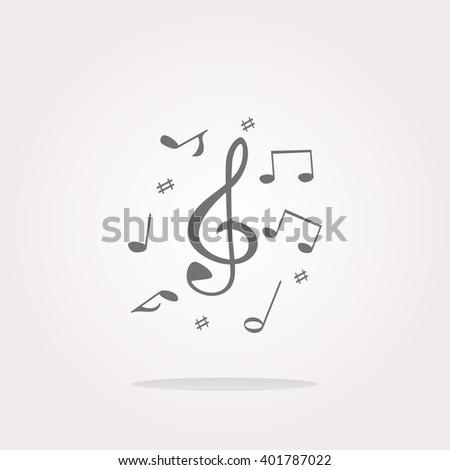 Music note Icon Vector, Vector Music note Icon logo, Music note vector Icon Sign, Music note Icon Flat, Music note button vector, Music note icon app, Music note icon UI, Music note button icon web - stock vector