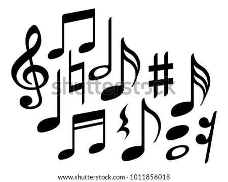 Music Note Icons Vector Set Black Stock Vector 1011856018 Shutterstock