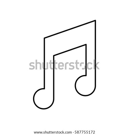 Music Note Symbol Icon Vector Illustration Stock Vector 587755172