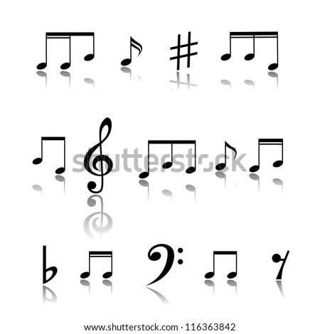 Music Notes. - stock vector