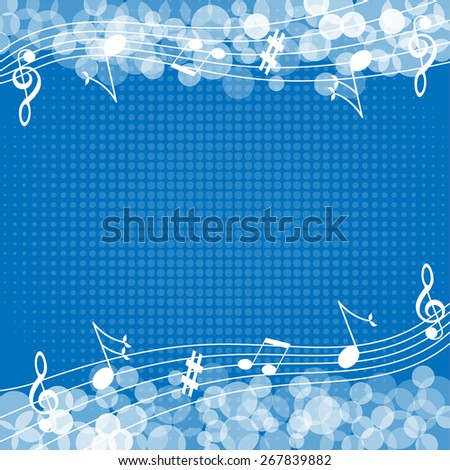 Music notes background-Vector illustration  - stock vector