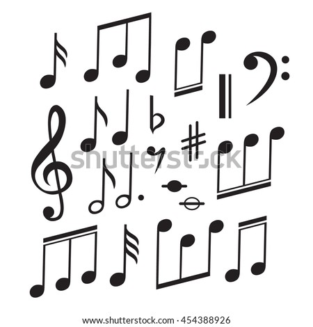 Music Notes Collection. Vector illustration - stock vector