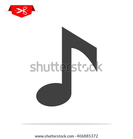 music notes icon - stock vector