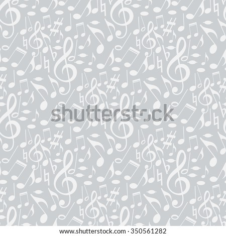 Music Notes, Music Background, Music Vector, Music Icon, Music Wallpaper, Music Record, Music Template, Music Art, Music Texture, Music Retro, Music Abstract, Music Pattern, Grey Background, Vector - stock vector
