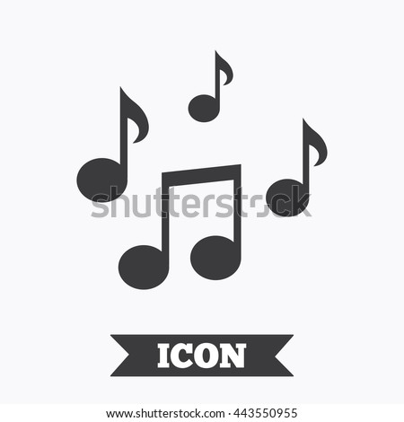 Music Notes Sign Icon Musical Symbol Stock Vector 443550955