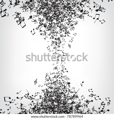 Music Notes Texture - stock vector