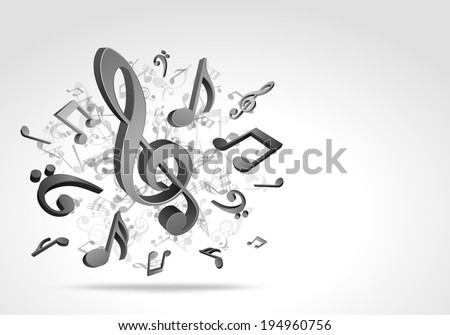 Music notes vector background eps 10