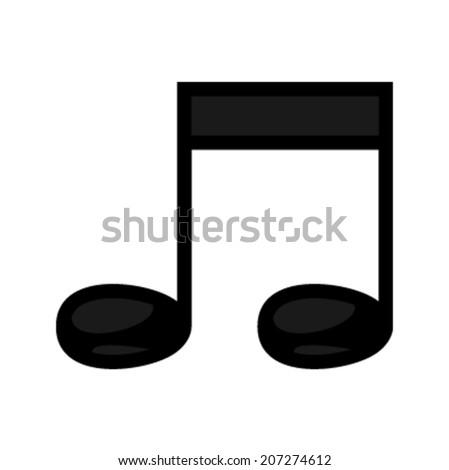 Music notes vector icon - stock vector
