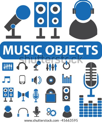 music objects. vector - stock vector
