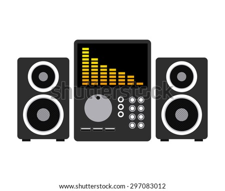 music online design, vector illustration eps10 graphic  - stock vector