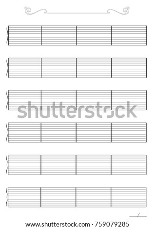 Music Paper Template Stock Vector   Shutterstock