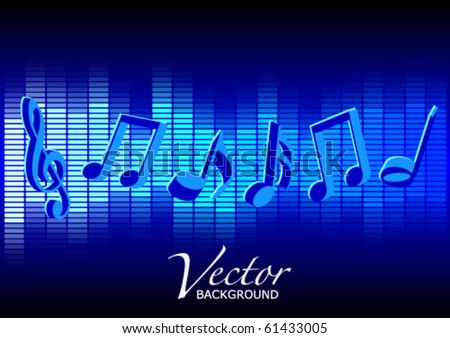 Music Party Background - stock vector